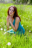 Young woman praying Royalty Free Stock Image