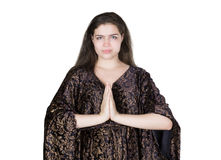 Young woman praying Stock Image