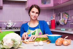 Young woman prepares royalty free stock photo
