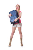 Young woman preparing for summer vacation Stock Images