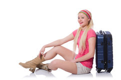 Young woman preparing for summer vacation Stock Photo