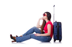 Young woman preparing for summer vacation Royalty Free Stock Photos