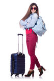 Young woman preparing for summer vacation Stock Photography