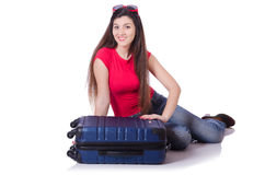 Young woman preparing for summer vacation Royalty Free Stock Photo