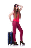 Young woman preparing for summer vacation Royalty Free Stock Image