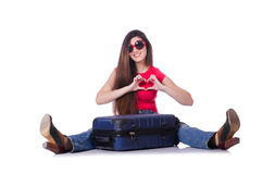 Young woman preparing for summer vacation Stock Image