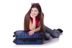 Young woman preparing for summer vacation Royalty Free Stock Images