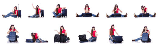 The young woman preparing for summer vacation Royalty Free Stock Photo