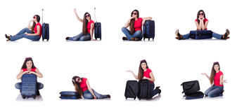 The young woman preparing for summer vacation Royalty Free Stock Image