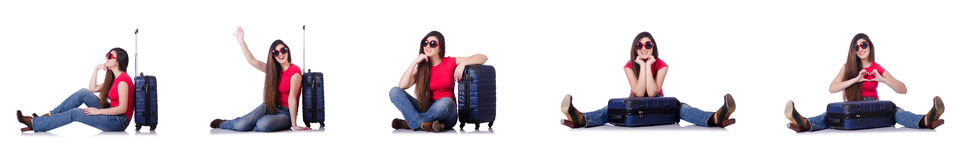 The young woman preparing for summer vacation Royalty Free Stock Images