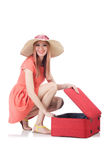 Young woman. Preparing for vacation Stock Photography