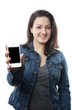 Young woman with smartphone Royalty Free Stock Image