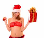 Young woman with presents Royalty Free Stock Photos
