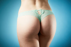 Young woman in panties Stock Image