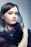 Young woman in pretty veil Stock Images