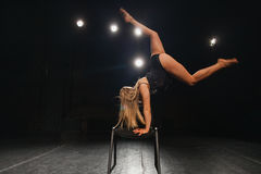 Young woman professional dancer on stage Royalty Free Stock Image