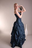 Young woman with prom dress Stock Image