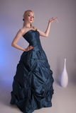 Young woman with prom dress Royalty Free Stock Photo