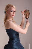 Young woman with prom dress Stock Photography