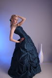 Young woman with prom dress Royalty Free Stock Photography