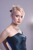 Young woman with prom dress Royalty Free Stock Image