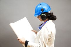 Young woman in protective workwear Stock Image