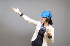 Young woman in protective workwear Stock Photography