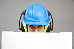 Young woman in protective workwear Royalty Free Stock Photo