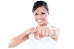 Young Woman Punching Stock Photos