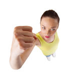 Young woman punching Stock Image