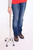 Young woman with a quad stick, isolated Stock Photography