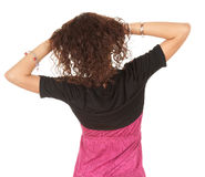 Young woman with raised arms Stock Photography