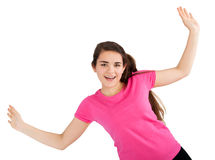 Young woman with raised hands Royalty Free Stock Photography