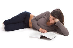 Young woman reading Royalty Free Stock Photo