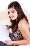 Young Woman Reading royalty free stock photos