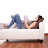 Young Woman Reading Royalty Free Stock Image