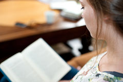 Young woman reading. Stock Photos