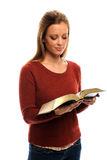 Young Woman Reading Bible Stock Images