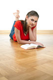 Young woman reading book Royalty Free Stock Photo