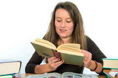 Young woman is reading Royalty Free Stock Photo