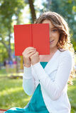 Young woman reads book. Stock Photography
