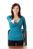 Young woman ready for handshake Royalty Free Stock Photo