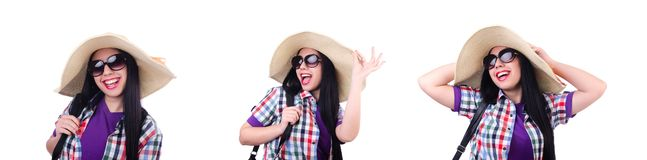 The young woman ready for summer vacation royalty free stock images