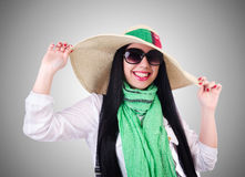 Young woman ready for summer vacation Royalty Free Stock Images