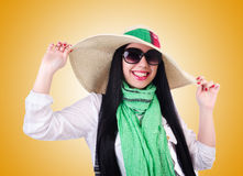 The young woman ready for summer vacation Royalty Free Stock Photo