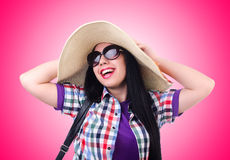 The young woman ready for summer vacation Stock Photography
