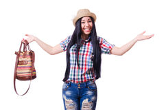 Young woman ready for summer vacation Stock Photography