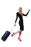 Young woman ready for summer vacation Stock Images