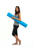 Young woman ready to do Fascia Training Royalty Free Stock Images