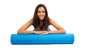 Young woman ready to do Fascia Training Royalty Free Stock Photography